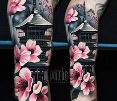 Pagoda tattoo by a d pancho tattoo designs sleeve sketches art 20 best ideas tattoo Japanese Temple Tattoo, Japanese Tattoo Women, Japanese Tattoo Symbols, Japanese Tattoo Art, Japanese Tattoo Designs, Japanese Sleeve Tattoos, Sleeve Tattoos For Women, Best Sleeve Tattoos, Japanese Forearm Tattoo