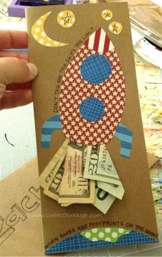 Graduation money card