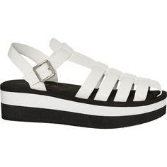 e10a3a4c1287 White Flatform Sandals - Flat Sandals - Sandals - Shoes - Women - TK Maxx  Women s