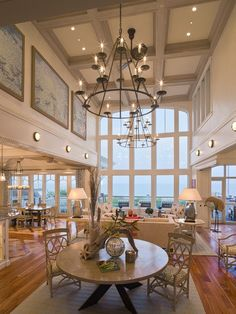 Looove The Open Floor Plan Would Change A Few Decorating Items But Other Than That High CeilingsCoffered