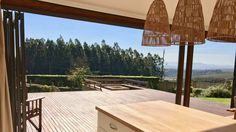 Natural inspired braai and kitchen area