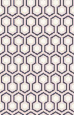 Small scale geometric wallpaper, Hicks Hexagon, from Cole & Son.
