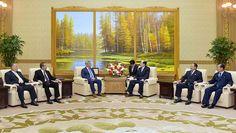 최고인민회의 상임위원회 위원장 김영남동지가 수리아체육총동맹대표단을 만났다
