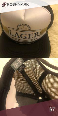 buy popular 375cb 0973e Firestone lager trucker mesh hat Brand new Firestone lager trucker hat.  beer Accessories Hats Lager