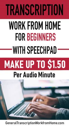 Transcription Work from Home for Beginners with Speechpad - Review - Work from Home Jobs, Online Jobs & Side Hustles Start A Business From Home, Work From Home Jobs, Make Money From Home, Way To Make Money, Online Business, How To Make, Craft Business, Business Ideas, News Online