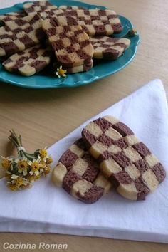 biscoito xadrez (chocolate e baunilha)