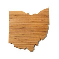 Ohio Shaped Cutting Board; AHeirloom