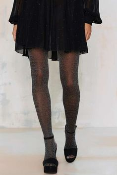 Look From London Glam Squad Glitter Tights - Party Shop