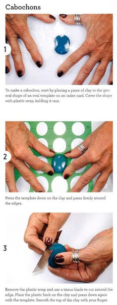 How to make polymer clay cabochons from the book Polymer Clay 101