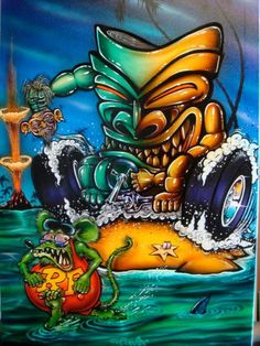 Ha! Rat fink visits Hawaii More