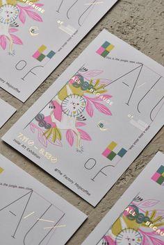 All because of_ Postcard on Behance Graph Design, E Design, Book Design, Cover Design, Print Design, Postcard Layout, Postcard Design, Typography Design, Branding Design