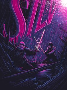 """Dan Mumford - There Can Be Only One. Part of the Years Later"""" art show at the Gallery 1988 of Los Angeles Dan Mumford, Art Of Dan, Epic Movie, Editing Background, Alien Art, Movie Poster Art, Cult Movies, Geek Art, Halloween"""