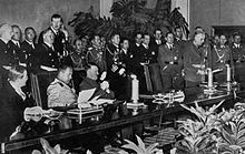 The signing of the Tripartite Pact by Germany, Japan, and Italy on 27 September 1940 in Berlin. Seated from left to right are the Japanese ambassador to Germany Saburō Kurusu, Italian Minister of Foreign Affairs Galeazzo Ciano, and Adolf Hitler. Axis powers - Wikipedia, the free encyclopedia