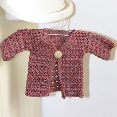 Crochet PATTERN pdf file  Baby Bobble Cardigan by monpetitviolon, $4.99