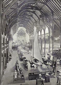 1896 Berlin - Berliner Gewerbeausstellung 1896 im Treptower Park, Sportabteilung.