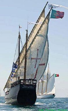 wooden Portuguese sailing boat