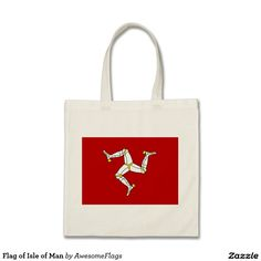 Flag of Isle of Man Budget Tote Bag