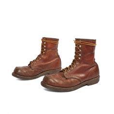Mens Vintage Red Wing Boots Moc Toe Hiker Factory 99 Irish Setter Reddish Leather.