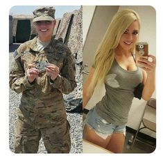 36 pics of beautiful girls with and without uniform will shock you. Check out sports girls, military girls, doctor etc. with uniform and without uniform giving hot posture. Stunning Girls, Gorgeous Women, Female Army Soldier, Hot Girls, Military Girl, Military Jacket, Military Women, Girls Uniforms, Badass Women