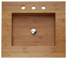 Integrated Bamboo Sink & Counter asian bathroom sinks