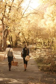 Autumn walks....Katie! Here we are going on a picnic in the park!! haha Can't wait to see you! @Katie Ficco