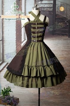 "kind of cute - ""Time Traveler"" steampunk lolita - ""kind of"" being the key phrase... idk I like it... <3 C"