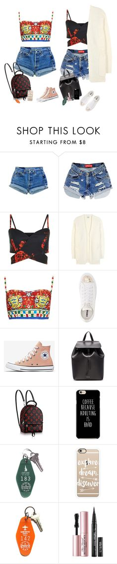 """explore the city"" by audrey-balt ❤ liked on Polyvore featuring Acne Studios, Dolce&Gabbana, Converse, Mansur Gavriel, Casetify and Three Potato Four"