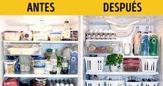 ¿Abres la nevera y tienes todo distribuido por ella sin sentido? Te enseñan en este post a ordenarla de forma correcta para que la comida se conserve mejor por más tiempo,