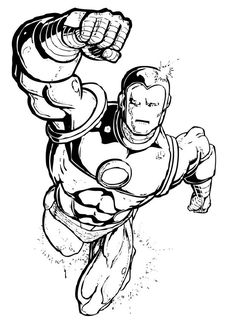 Superhero Coloring Pages | Camp | Pinterest | Superhero, Coloring ...