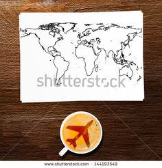 airport coffee. full cup of fresh espresso, view from above