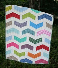 Chevron BABY QUILT PATTERN by SugarThreadz on Etsy