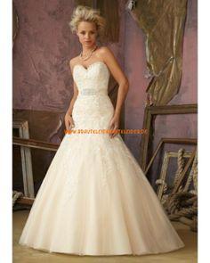 2013 Extravagantes Brautmode im Prinzessinstil mit langer Schleppe