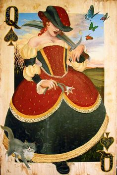 Queen of Spades by ~felixxkatt www.fb.com/madamastrology offers- Complete Free #Natal-Chart and Free #Tarot Readings!