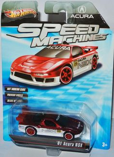 Speed Machines - 2001 ACURA NSX  red-white / graphics - 1:64 Hot Wheels