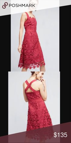 "Anthropologie HD in Paris Mulberry dress NWT. Absolutely gorgeous!!! Size 0. Price is firm unless bundle. Measurement bust flat across 14""1/2 almost 15"". Waist flat across 12""1/2 almost 13"". Anthropologie Dresses"