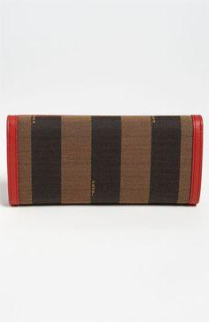 Fendi 'Pequin' Continental Wallet | Nordstrom
