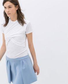Image 2 of DRAPED T-SHIRT from Zara
