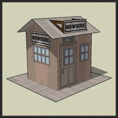 Simple Nowhere RR Station Free Building Paper Model Download  Nowhere RR Station, created by Chris Longvallon, and shared by Mauther. It is perfect for Dioramas, Train Sets ,RPG and Wargames.