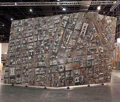 Awesome! Vertical Aerial: A Monumental 3 Ton Aerial Mosaic of Johannesburg sculpture mosaics Johannesburg Africa aerial