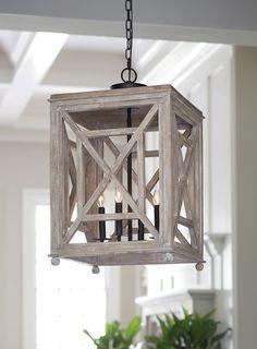 Regina Andrew |  Wood Lattice Lantern Chandelier.