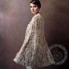 A beautiful cape by Elan Official Pre Spring'16 Crystal Festive Collection