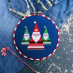 Santa Cross Stitch Pattern PDF Christmas Christmas Patterns
