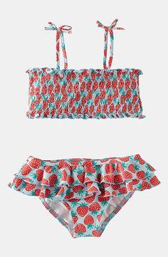 Swimming New 2019 Baby Girl Kids Bathing Suit Swimwear Bikini Set Tankini Swimsuit Costume Swing Dots Big Bow Cute Soft Sweet Swimsuits Numerous In Variety