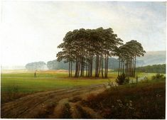 "c.1820-1825 ~ ""Midday"" by Caspar David Friedrich (1774-1840), German Romantic Landscape Painter ...."