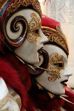 beautiful Venice carnival masks