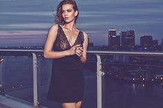 figleaves nightwear Pandora Lace Chemise in Black #SecretsOfTheCity #AW14Lingerie #figleaves