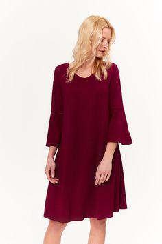 Mikita sukienka damska dzianinowa kolor: czerwony