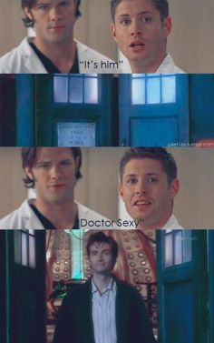 Supernatural/Doctor Who mash up for the win.