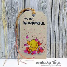 blog.karten-kunst.de - You are Wonderful. Penny Black – Buddy and Duck, Gerda Steiner Designs – Happy Hoppy