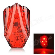 HJ-031 USB Rechargeable 800lm 4-mode Red Light LED Warning Tail Lamp for Bicycle - Red   Black Price: $9.23